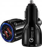 Автомобильное зарядное устройство XoKo CQC-200 2USB Qualcom 3.0 6A Black (CQC-200-BK) - изображение 2