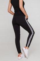 Спортивні штани з лампасами для вагітних Lullababе Lublin S Чорний - зображення 2