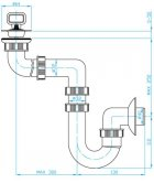 Сифон для раковини PLAST BRNO колбовий 32/40 мм з боковим зміщенням (EU40340) - зображення 2