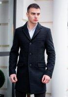 """Чоловіче демісезонне пальто PB """"Batya2"""" Чорне L - зображення 1"""