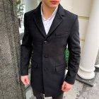 """Чоловіче демісезонне пальто PB """"Batya2"""" Чорне L - зображення 3"""