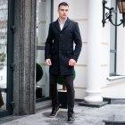 """Чоловіче демісезонне пальто PB """"Batya2"""" Чорне L - зображення 6"""