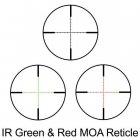 Приціл оптичний Barska Level 6-24x56 (IR MOA R/G) + Rings - зображення 3