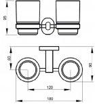 Стакан двойной QTAP Liberty CRM 1155 - изображение 2