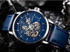 Мужские классические механические часы Oubaer Night Blue 8902 - изображение 7