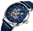 Мужские классические механические часы Oubaer Night Blue 8902 - изображение 11
