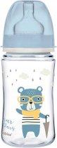 Бутылка антиколиковая Canpol Babies Bonjour Paris с широким отверстием 240 мл Синяя (35/232_blu) - изображение 1