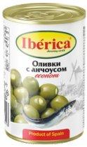 Оливки Iberica фаршированные анчоусами 280 г (8436024298413) - изображение 1