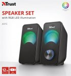 Акустическая система Trust Arys Compact RGB 2.0 Speaker Set Black (23120) - изображение 5