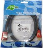 Кабель Atcom HDMI — HDMI 4K v.2.0 3 м Red/Gold (24943) - зображення 2