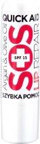 Бальзам для губ Quiz Lip repair SOS with argan & olive oil Спасатель с арганом и оливковым маслом 4.2 мл (5906439030029) - изображение 1