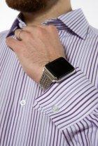 Рубашка классического покроя Time of Style 120PAR036 41-42 Фиолетовый/белый - изображение 7