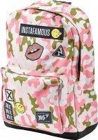 Рюкзак молодежный YES T-67 Smiley World женский 0.4 кг 32x41x13 см 17 л Military girl (558280) - изображение 2