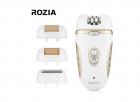 Эпилятор Rozia Белый женский с 4 насадками + подарочная упаковка HB-6007 - изображение 3