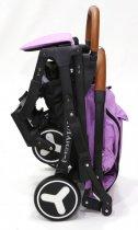 Детская прогулочная коляска YOYA PLUS 3 Фиолетовый (рама белая) - изображение 3