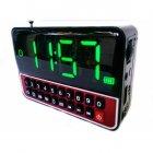 Настільні годинники з радіо і будильником акумуляторні WSTER WS-1513 Black - зображення 3