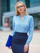 Блузка Dressa 14292 48 Блакитна (2000000806884) - зображення 1