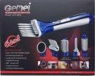 Стайлер фен багатофункціональний прилад для укладання волосся 6 в 1 Gemei Professional Hot Air Styler GM-4834 Pro фен щітка, електрична гребінець 3 режими 550 Вт Синій - зображення 4