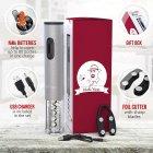 Электроштопор с аккумуляторами, USB-шнуром, ножом для фольги Uncle Viner G103 Best seller в США, подарочный набор - изображение 4