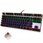 Механічна ігрова клавіатура з підсвічуванням Metoo Zero X51, світчі червоні - зображення 1