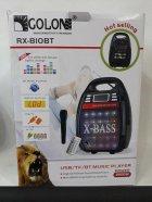 Колонка комбик Bluetooth mp3 радиомикрофон пульт цветомузыка Golon RX-820 BT (gr006278) - изображение 3