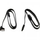 Комплект из двух кабелей SATA III 0.5 м (17126 Black) - изображение 1