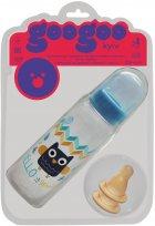 Бутылочка для кормления GooGoo Kyiv 250 мл с двумя резиновыми сосками Синяя (A00150000071303) (4823060811630) - изображение 1