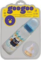 Бутылочка для кормления GooGoo Kyiv 250 мл с силиконовой и резиновой сосками Синяя (A00150000071309) (4823060811678) - изображение 1