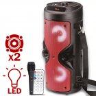 Портативная колонка Column BT ZQS-4209 USB беспроводная музыкальная Bluetooth с блютуз LED подсветкой и FM - радио для улицы и дома - Переносная акустическая система с пультом д/у и TF-card + USB + AUX, Красная - изображение 1