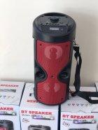 Портативная колонка Column BT ZQS-4209 USB беспроводная музыкальная Bluetooth с блютуз LED подсветкой и FM - радио для улицы и дома - Переносная акустическая система с пультом д/у и TF-card + USB + AUX, Красная - изображение 8
