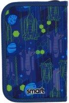 Пенал Smart Galaxy твердый одинарный с клапаном 1 отделение Синий с зеленым (532077) - изображение 2