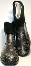 Жіночі гумові чоботи ALS 351-56-241 39 темно-сірий+коричневий+чорний ALS XA-3A 203 SB - зображення 1