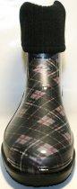 Жіночі гумові чоботи ALS 351-56-241 39 темно-сірий+коричневий+чорний ALS XA-3A 203 SB - зображення 4