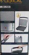 Гриль електричний для будинку контактний притискної барбекю з антипригарним гранітним покриттям Lexical 2000W (LSM-2506) - зображення 7