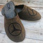 Комнатные мужские паркетные войлочные тапочки TapOK T107br 44 размера коричневые - изображение 5