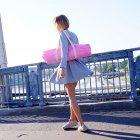 Сумка-чехол для йога коврика Foyo Pink 67x16 см Розовый с молочными ручками (01082) - изображение 3
