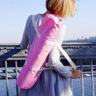 Сумка-чехол для йога коврика Foyo Pink 67x16 см Розовый с молочными ручками (01082) - изображение 5