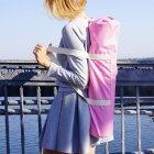 Сумка-чехол для йога коврика Foyo Pink 67x16 см Розовый с молочными ручками (01082) - изображение 6