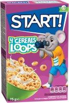 Упаковка сухого завтрака Start кольца глазированные с зернами 4 видов 75 г х 24 шт (4820008123855) - изображение 2