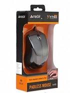 Миша A4Tech N-400-1 Grey, USB V-Track - зображення 4
