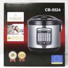 Мультиварка пароварка Crownberg 5 литров медленноварка 860 Вт лучшая домашняя мощная помощница на кухне CB5524S - изображение 3