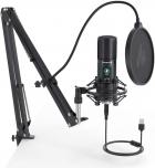 Мікрофон конденсаторний Maono AU-PM421 зі стійкою, павуком та поп-фільтром + USB і вітрозахист Чорний - зображення 3