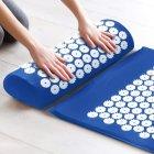 Килимок + подушка (валик) аплікатор Кузнєцова Масажний масажер для спини/ніг OSPORT (apl-011) Синій - зображення 2
