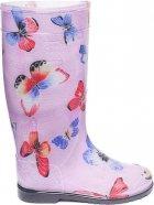 Резиновые сапоги OLDCOM Бабочка на розовом фоне 35-36 (4841347000102) - изображение 1