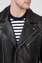 Мужская черная кожаная косуха MOTORCYCLE Calvin Klein 48 K10K103427 - изображение 4