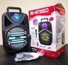 """Беспроводная аккумуляторная Bluetooth колонка Kimiso QS-4002 (8"""") с микрофоном и пультом - изображение 4"""