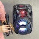 """Аккумуляторная беспроводная Bluetooth колонка Kimiso QS-3603 (6.5"""") с микрофоном и подсветкой - изображение 6"""