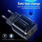 Мережевий зарядний пристрій швидка зарядка адаптер Qualcomm Quick Charge 3.0 / QC 3.0 чорний (QC-21951) - зображення 3