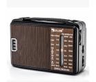 Радиоприемник GOLON RX-608, LED, 2x3W, FM радио, Входы microSD, USB, AUX, корпус пластмасс, Black, BOX - изображение 1
