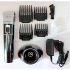Профессиональная аккумуляторная машинка для стрижки волос Promotec PM 362 NEW l 10 Вт ножи с керамики и титана Led-дисплей 4 насадки + подставка (LO096) - изображение 2